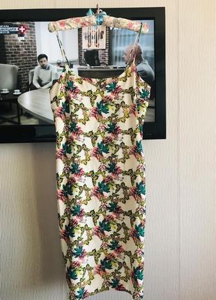 Распродажа! красивое платье сарафан принт цветы 🌹 под шёлк
