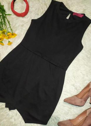 Черный комбинезон с шортами размер xl бренда boohoo