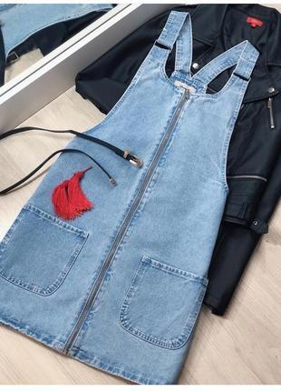 Сарафан джинсовый на молнии denim co размер 6