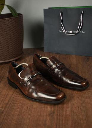 Steve madden мумжские туфли на пряжке темно коричневые размер 46