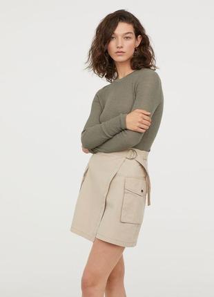 Новая хлопковая юбка карго h&m. размер 36