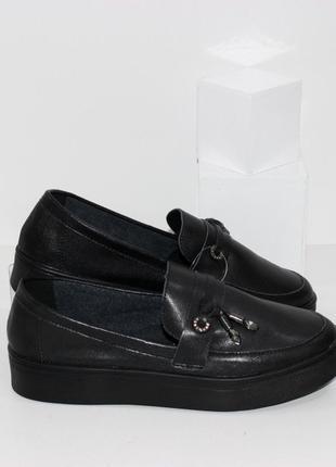 Кожаные мокасины  / туфли лоферы натуральная кожа
