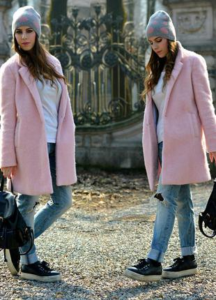 Новое розовое бойфренд пальто atmosphere