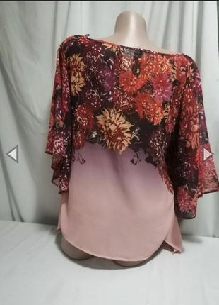 Дуже красива блуза принт квіти