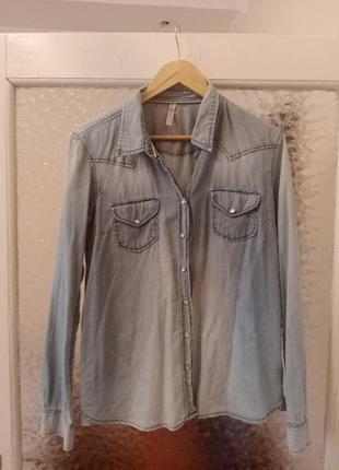 Тонкая джинсовая рубашка fb sister