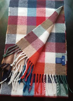 Шарф из 100%шерсти,gant, италия 180×30см.