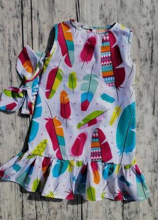 Летнее платье + повязка-солоха