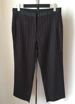 Укороченные брюки штаны широкие  кюлоты в полоску sisley