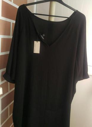 Нереальная черная блуза  большой размер