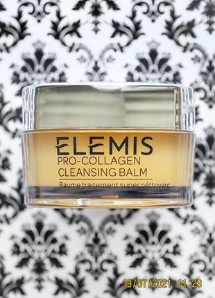 Очищающий бальзам для умывания и демакияжа elemis pro-collagen cleansing balm 20 г
