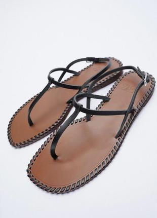 🌸 кожаные сандалии от zara 🌸