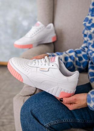 🤍 женские кроссовки puma cali white/pink