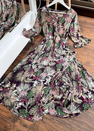 Платье вискоза миди макси лёгкое летнее сукня плаття сарафан