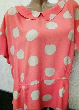 Летняя  розовая блуза boden