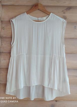 Легкая атласная блуза от h&m