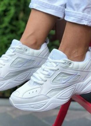 Nike m2k tekno кроссовки белые женские найк текно