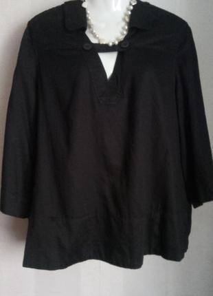 Брендовая натуральная блуза с карманами сша