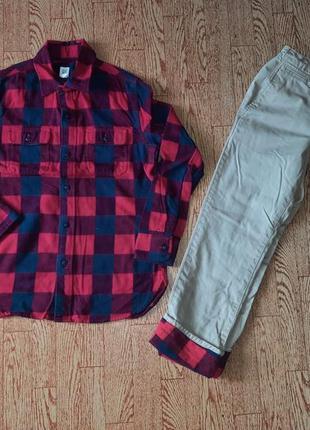Рубашка фланель + брюки gap набор1 фото