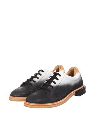 Черно-белые кэжуал туфли eureka на шнурках португалия