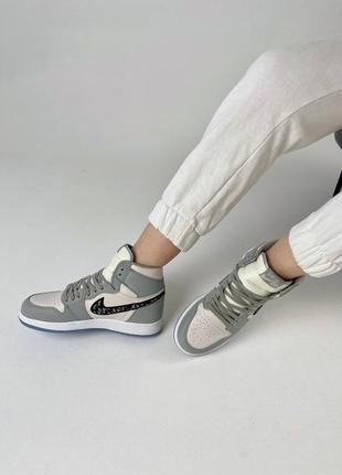 Sneakers nike x  колаборация высокие кроссовки женские