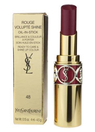 Yves saint laurent rouge volupte shine губная помада с блеском.
