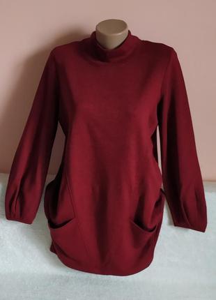 Як нове! дуже гарне тепле плаття ,туніка,батнік з карманами, вказано р. 10.