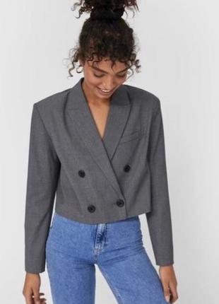 Укорочённый корп пиджак блейзер