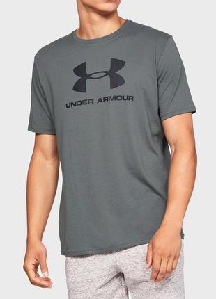 Мужская серая футболка under armour