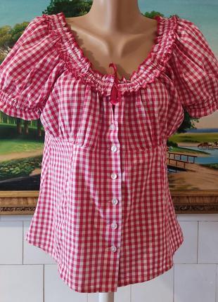 Блуза 💯%хлопок,блузка,распашонка,рубашка котоновая,блуза в клетку🔥🔥🔥