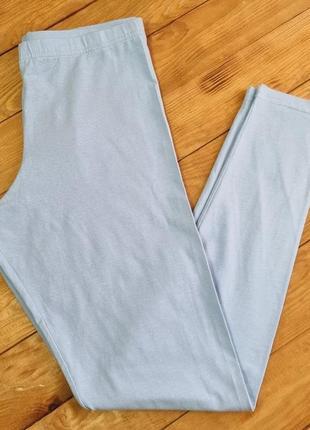 Леггенсы женские, размер m, цвет голубой