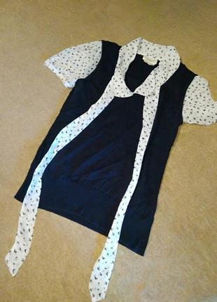 Кофта блузка воротник