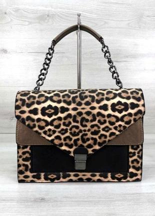 Классическая стильная сумка с леопардовым принтом aliri-t54-05 сумка леопард