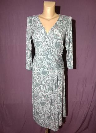 Платье-миди, тонкий, приятный трикотаж,интересный принт американского премиум бренда white stuff