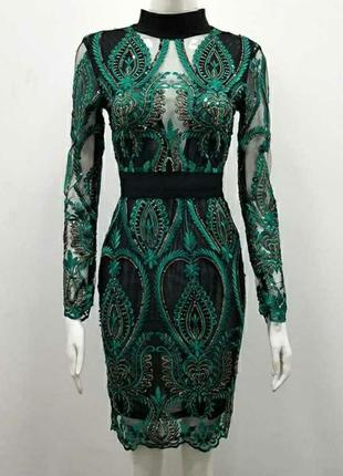 Шикарное изумрудное платье 😍🔥