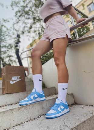 Dunk low blue низькі жіночі сині кросівки кеди джордани