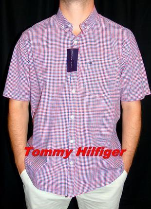 Tommy hilfiger шикарная брендовая рубашка - xl