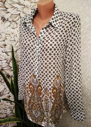 Блуза, рубашка, хлопок/promiss/ 1+1= 50% скидки на 3ю вещь.