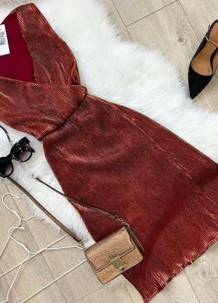 Невероятное нарядное платье в мелкую плисировку(плиссе)
