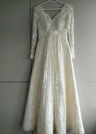 Авторское свадебное платье в винтажном стиле.