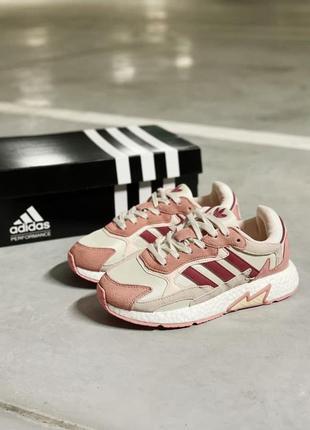 Adidas tresc run white violet женские кроссовки наложка