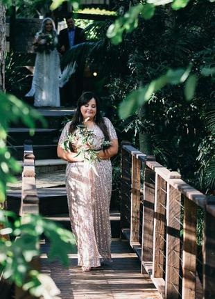 Asos plus size lovedrobe luxe роскошное блестящее макси-платье 6xl4