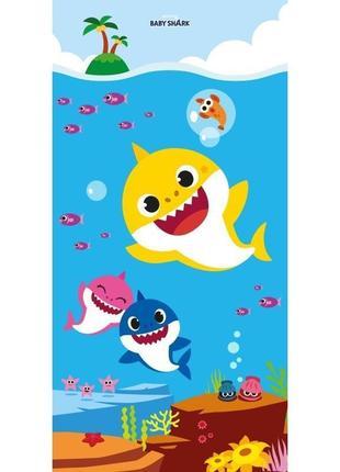 Пляжное детское полотенце бэби шарк (baby shark) - 70x140 см - оригинал pinkfong