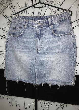 Джинсовая юбка h&m размер 40
