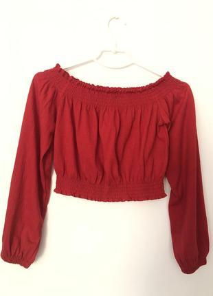 Красная блузка н&м