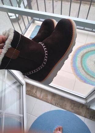 Замшевые ботинки clarks extralight 28-29