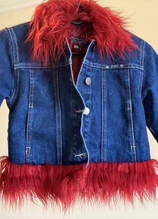 Джинсова курточка стильна для дівчинки