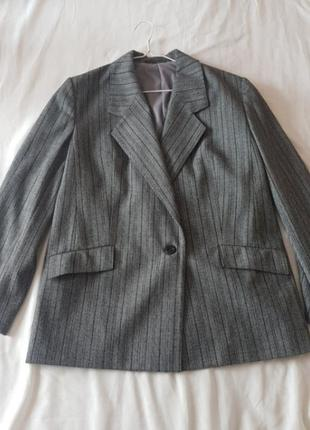 Пиджак женский plus size xl xxl серый шерсть срочно распродажа возможен обмен