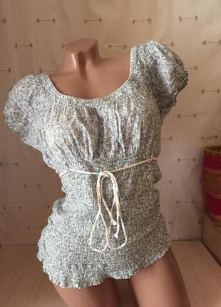 Блуза майка на резинке