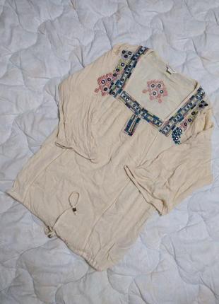 Monsoon блуза с вышивкой