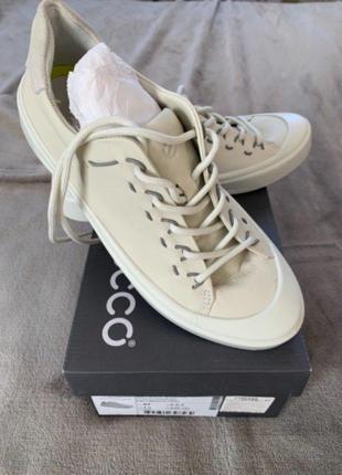 Кожаные кроссовки кеды женские ecco р37